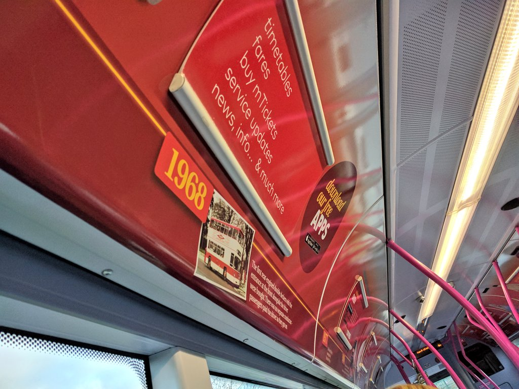 Historic branding onboard First Southampton's CITYREDS Streetlites