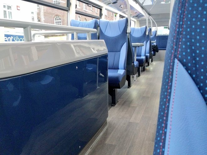 The sumptuous seating onboard Bluestar's new Enviro 400 MMCs