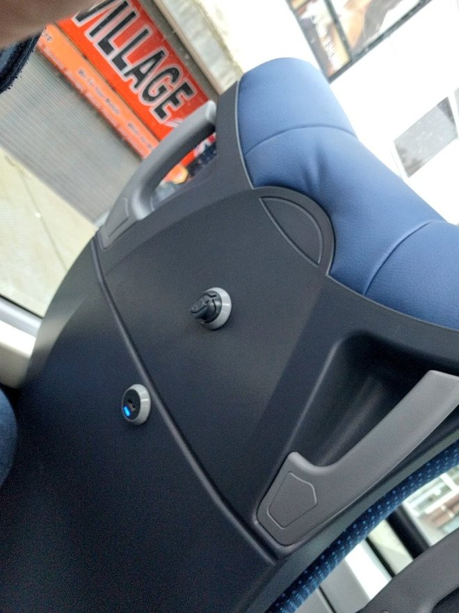 USB chargers on board Bluestar's brand new Enviro 400 MMCs