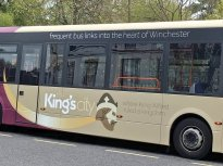 The King's City branding for Winchester's city bus routes