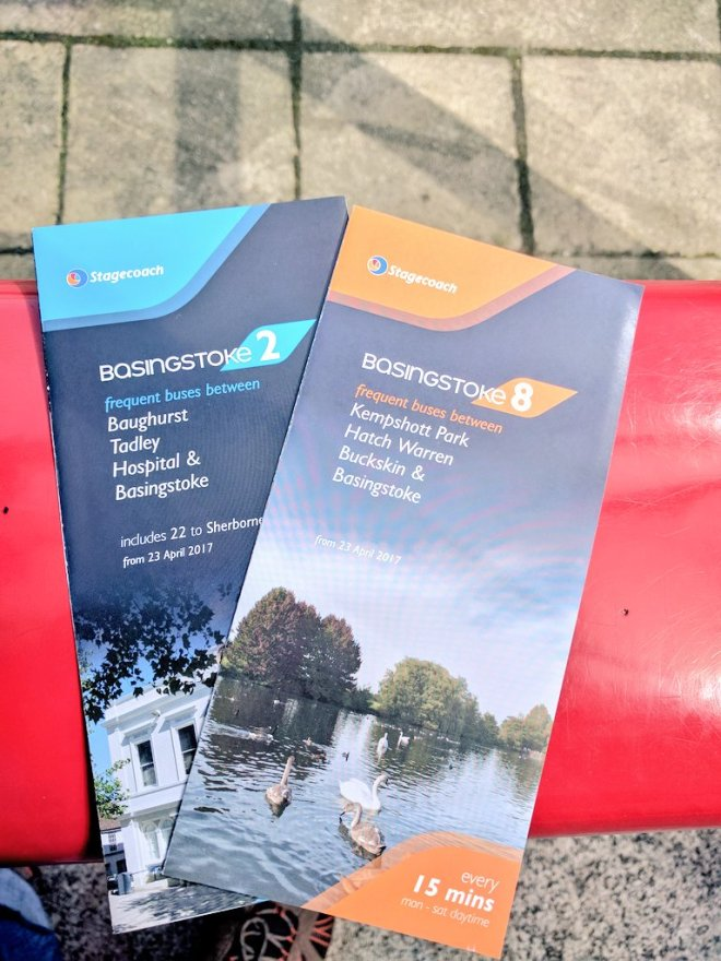 An example of the new timetable leaflets for the Basingstoke network