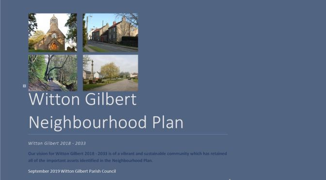 NEIGHBOURHOOD PLAN REFERENDUM ON NOVEMBER 7TH