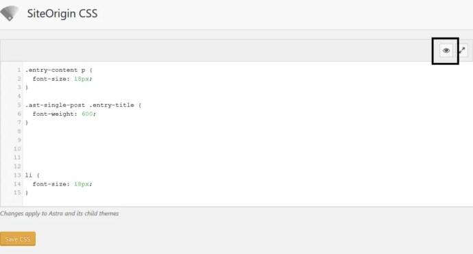 Using SiteOrigin CSS to Change Font Size In WordPress
