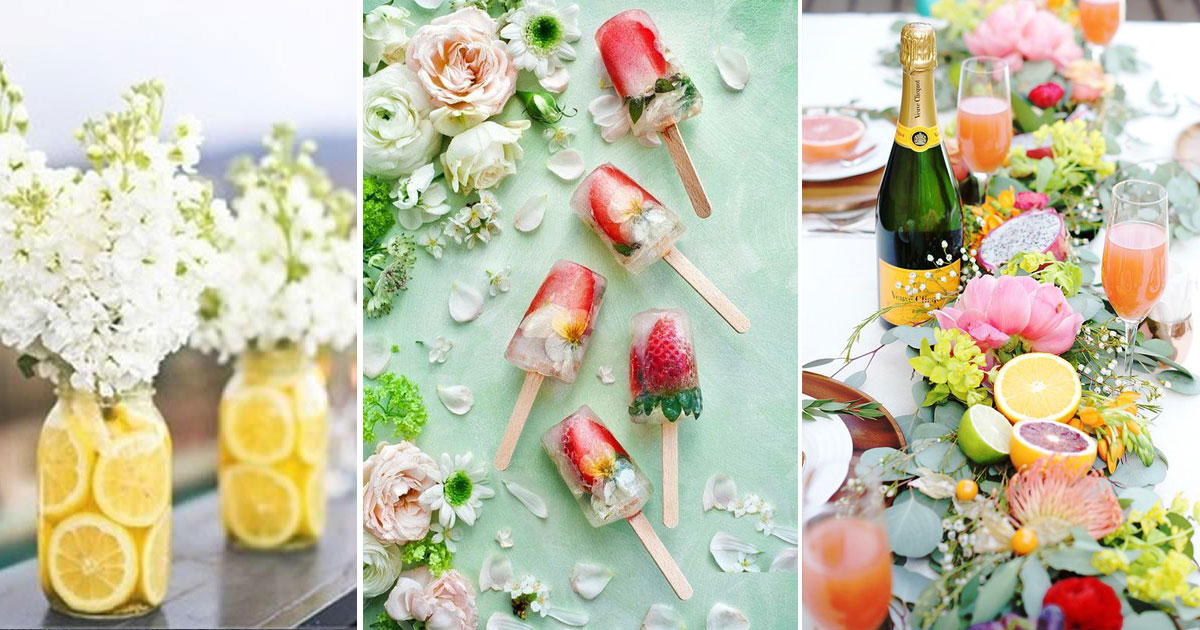 Summer wedding ideas   Indian weddings   fruit centrepieces   colourful ice lollies   flower popsicles