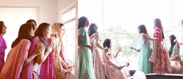 The one where you sneak peaks at the baraat Witty vOws