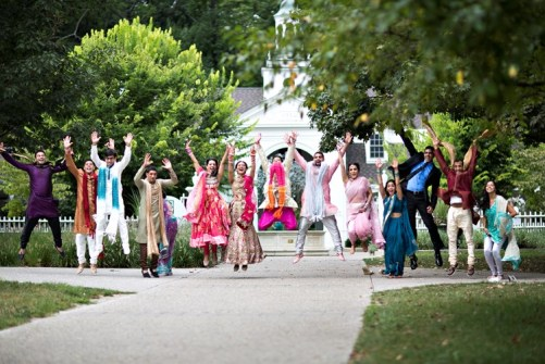 Celebration with friends - Must have indian wedding photos with friends witty vows