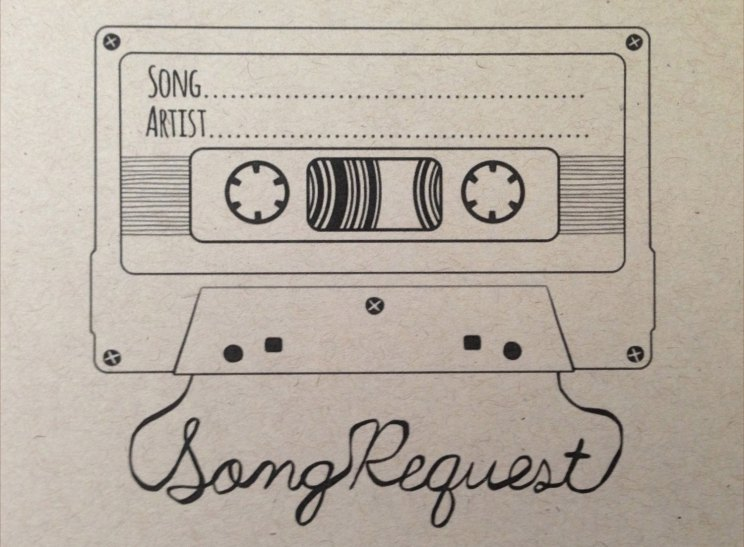DIY DJ SONG REQUEST CARDS Witty Vows