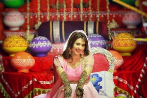 Portrait mehendi Divyanka Tripathi on Witty vows
