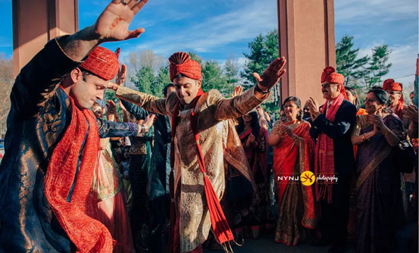 pictures every indian groom must have with his friends from the wedding   When your boss are girls   Groom dancing with friends   Curated by Witty Vows