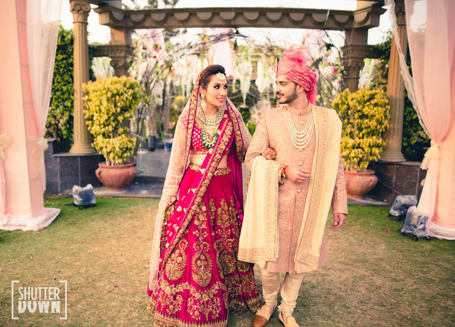 Lehenga inspiration for the Indian Bride on her Wedding day - styles, silhouettes, ideas | Photo Shutter down photography | Curated BY witty Vows