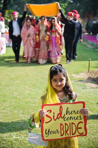 Innovative entry ideas for the Indian Bride | get your little cousins to set the pace | Curated by Witty vOWs