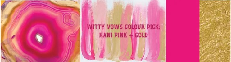 Wedding mood board to love - PINK and GOLD INDIAN Mehendi Theme curated by Witty Vows | Hot Pink fuchsia Rani Pink Pluss gold Colour Indian wedding Decor
