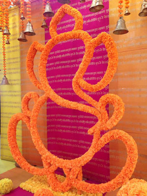 Magic with marigold | DIY decor ideas for the wedding house | using agenda on a budget | Ganesh ji made with marigold flowers | Curated By Witty Vows