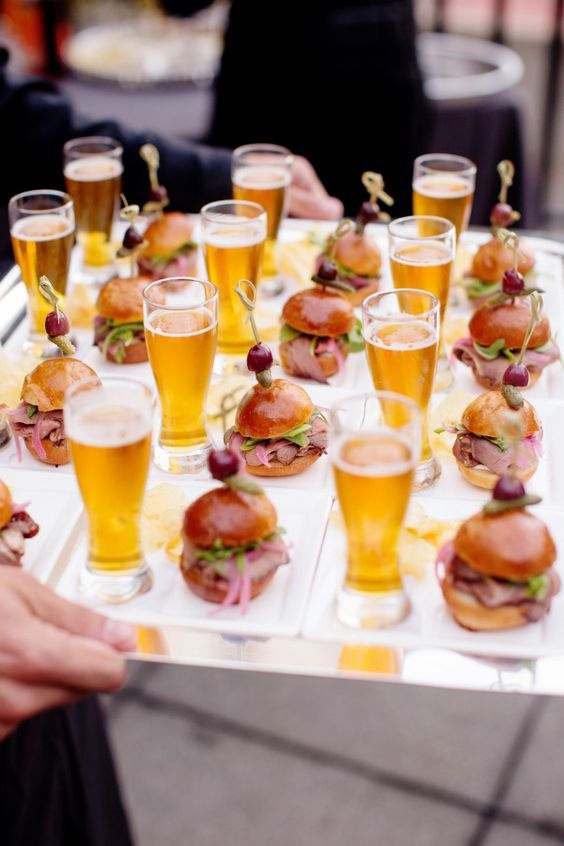 How to create an amazing cocktail bar at an Indian wedding - Ideas curated by Witty Vows | Beer with burgers Tappas ideas