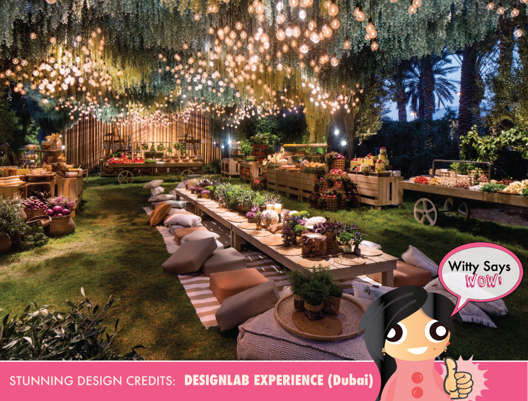 Witty says wow indian weddings ideas inspiration outdoor wedding reception decor idea by designlab dubai indian wedding ideas indian wedding junglespirit Gallery