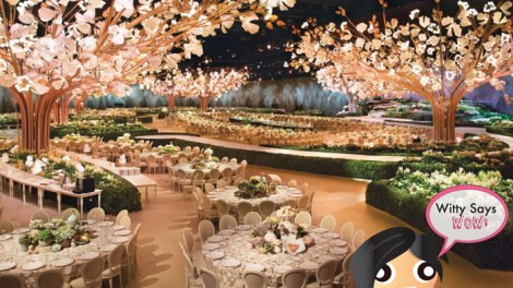 Witty Says WOW | Stunning and amazing wedding reception decor Indian Wedding ideas indoor by Design lab Events | Curated By witty Vows