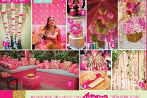 Wedding mood board to love - PINK and GOLD INDIAN Mehendi Theme curated by Witty Vows