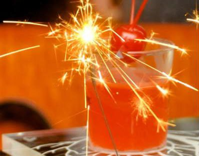 Cracker of a drink! sparklers for the drinks for your diwali party together at home   Curated by Witty Vows