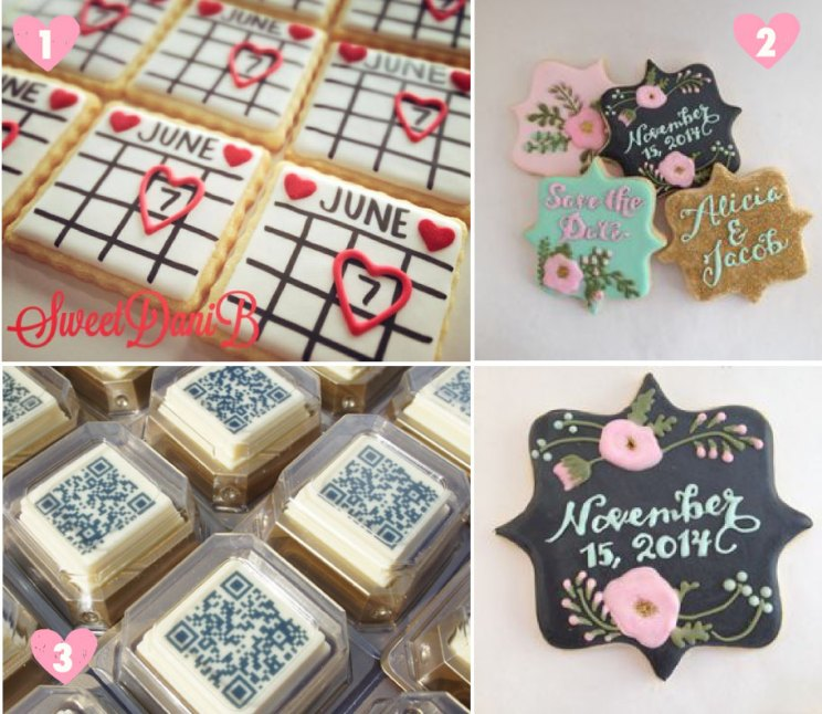 Save the date ideas for Indian weddings   Dave the date cookies with a calender   Save the date qr code chocolates   Curated by Witty Vows