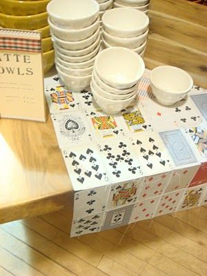 Create runners with playing cards by sticking them together!   Ideas to display your food buffet at your cards party for diwali at home   Curated by Witty Vows
