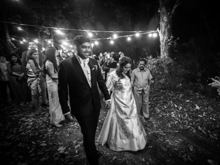 The happy couple Subhashree and Jonathan from their beautiful Indian destination wedding in the hills | DIY bride diaries - ideas for an outdoor Indian wedding| christian style ceremony | Witty Vows