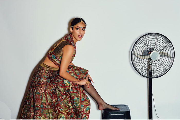 Ileana D'Cruz bridal shoot idea | bride with stockings |modern Indian Bride | Bindaas bride