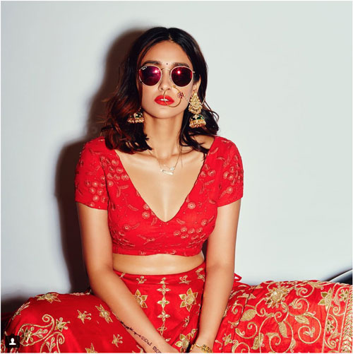 Ileana D'Cruz bridal shoot idea | bride with sunglasses |modern Indian Bride | Bindaas bride