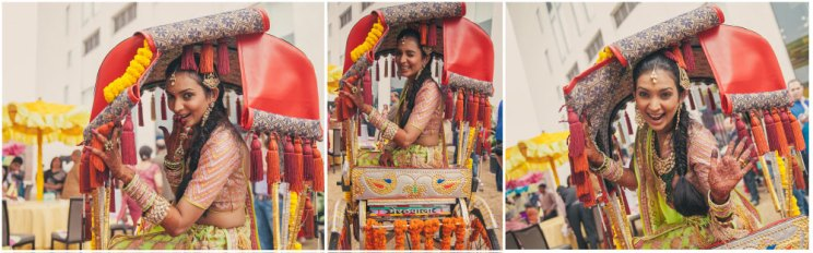 Candid bridal photo ideas | Bindaas brides | Witty Vows | Super fun bride in a rickshaw