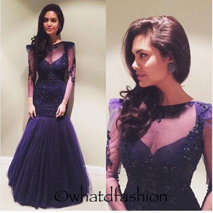 Reception Gowns for Indian Brides - Amit GT| Esha Gupta| Reception Gown | Blue| Fish Cut Cocktail Gown | Indian Bridal wear | Indian Brides | Indian wedding | Bridal Fashion | Indian Designer