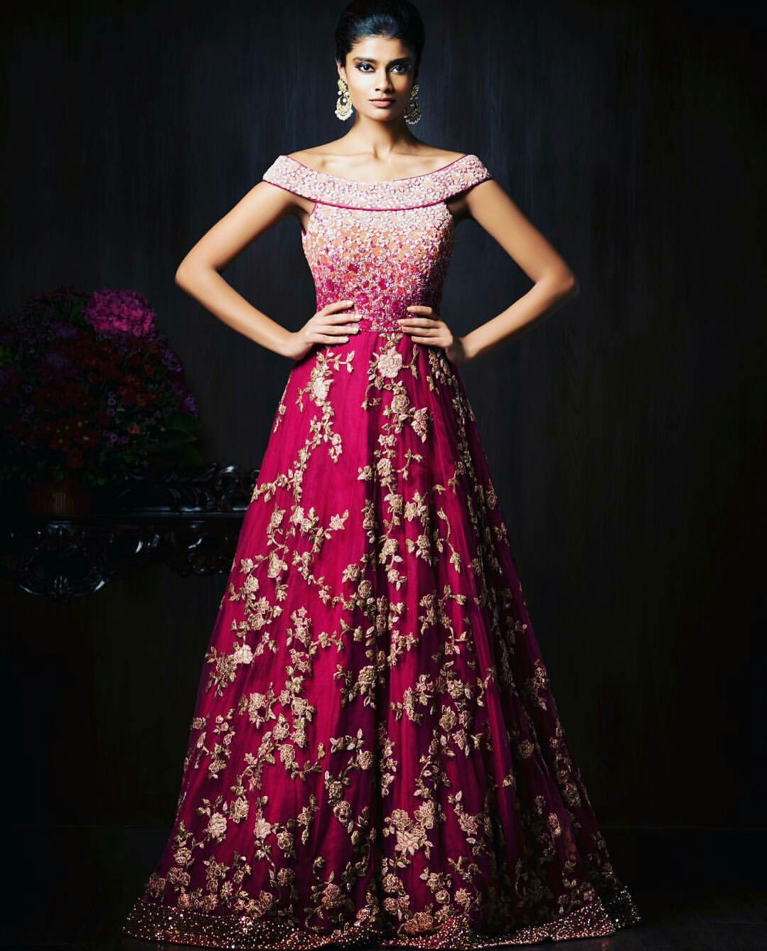 Indian Wedding Gowns: Gorgeous New Indian Reception Gown Styles For Indian Brides