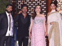Bollywood style Wedding at the Ambani's | Neeta Ambani with Shahrukh Khan , Ranveer Singh and Deepika Padukone at her house Antila to host Isheta's Pre wedding Party