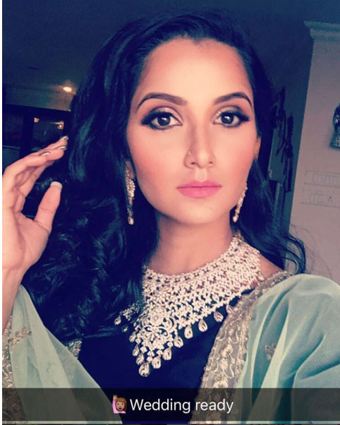 Bollywood style Wedding at the Ambani's | Sania Mirza takes a selfie in a Prathyusha Garimella Mukesh Ambani's niece's pre wedding party