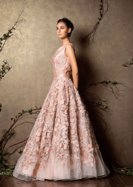 Reception Gowns for Indian Brides- Shymal Bhumika | Baby Pink | Cocktail Gown | Indian Bridal Wear | Indian Wedding | Indian Bride| Indian Gown | Indian Designer | Bridal Fashion | Pernia Popup Shop