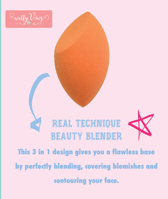 Indian Makeup guide brush - Real technique beauty blender review