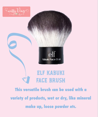Indian Makeup guide brush - Elf Kabuki Brush review
