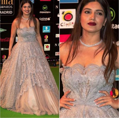 Bhumi Pednekar in Silver Shantanu & Nikhi Gown| Fall Winter Collecton 2016| Bridal wear | Reception gown| indian gown | cocktail gown | ballroom goown | indian designer| luxury designer| indian wedding| indian bride