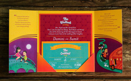 Unique Indian wedding invitation card ideas | Illustration Much