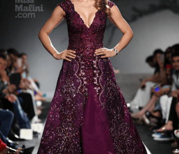 Cocktail Gowns for Indian Brides - Manav Gangvani Wine Coloured| Reception Gown | Cocktail Gown| Bridal Fashion| Indian Wear| Indian Designer| Bridal Wer| Kangana Ranaut| Indian Brides|