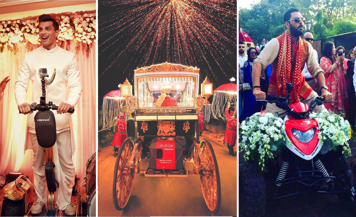 New Entry ideas for Indian Grooms | Yuvraj singh enters on an ATV at his Goa wedding