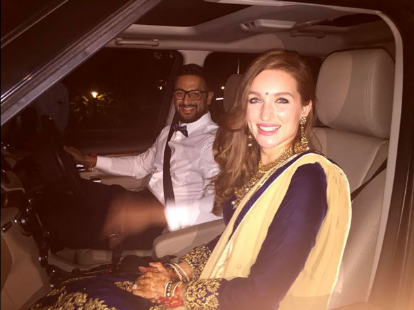 Actor Arunoday Singh's Wedding in Bhopal to Lee Elton | Couple together in a car