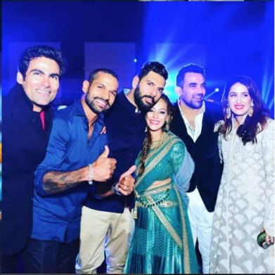 Yuvraj Singh's Wedding reception & Sangeet in Delhi | The cricket crew