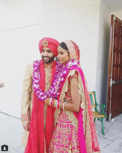 Sunny leone's Brother Sandeep vohra got married in a pretty Gurudwara Ceremony in LA