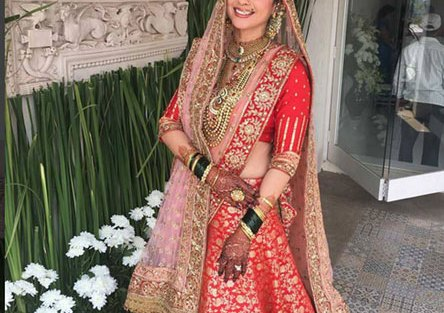 Top Indian Celebrity Weddings 2016 | Stunning wedding ideas from Urmila Matondkar's wedding outfit | red and gold Manish malhotra wedding lehenga