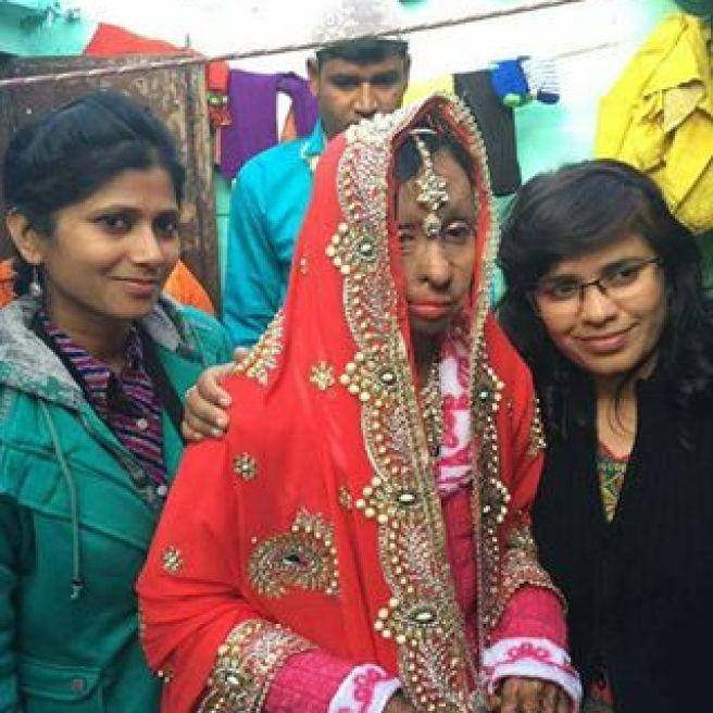 Acid attack fighter Shabeena's wedding | A pretty bold bride