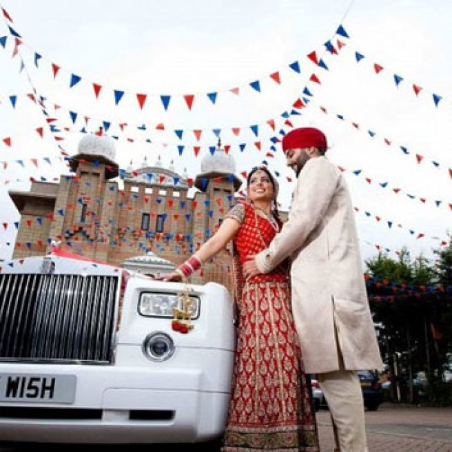 Groom and Bride exit ideas for Indian Weddings   vadai ideas   wedding send off ideas   couple exit ideas   Indian couple exit wedding groom and bride in a luxury car   Indian groom in a vintage car