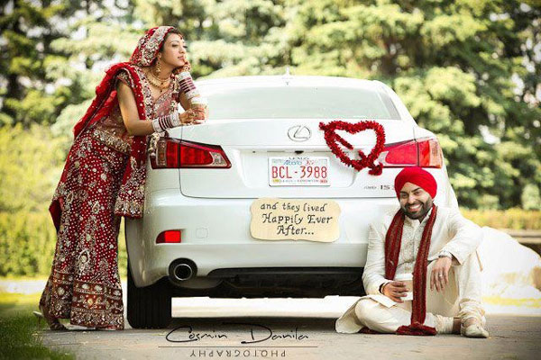 Groom and Bride exit ideas for Indian Weddings | vadai ideas | wedding send off ideas | couple exit ideas | Indian couple exit wedding groom and bride in a luxury car