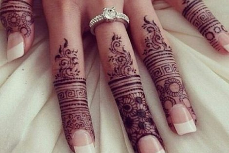 trending minimal new bridal mehndi design ideas for this wedding season | Finger Henna Tattoo