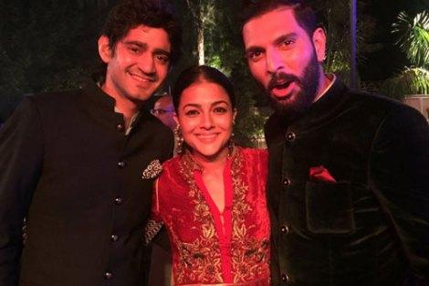 Yuvraj Singh's Wedding reception & Sangeet in Delhi | Garav and the groom
