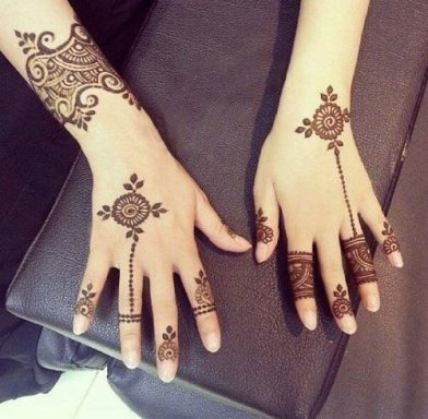 Minimal new mehndi design ideas for this wedding season | Henna Ideas | Jewellery design mix modern Style finger Henna on back of the hand