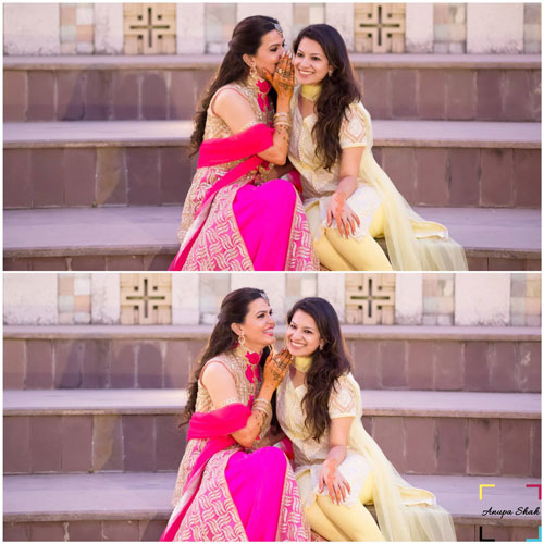 Fun photos of Indian Bride with her Best Friend